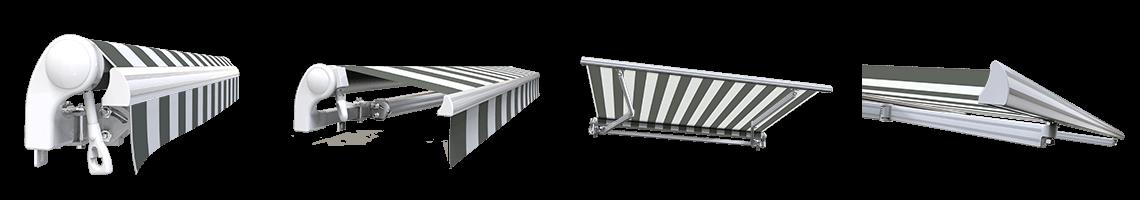 store banne extérieur monobloc sans coffre sunny inch blanc gris