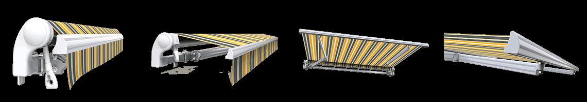 store banne extérieur monobloc sans coffre sunny inch gris jaune