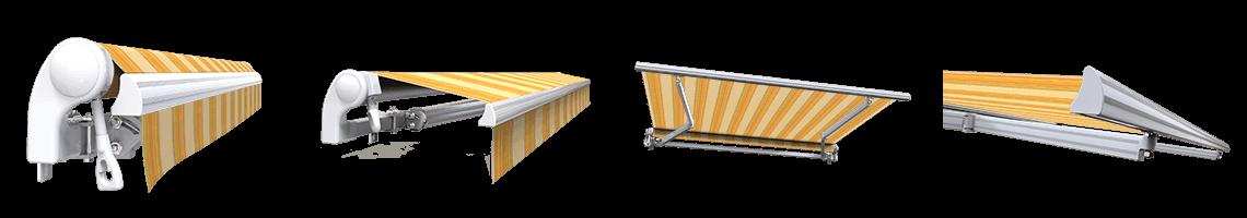 store banne extérieur monobloc sans coffre sunny inch jaune rayé