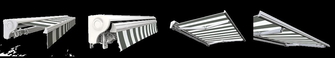 store banne semi coffre motorisé sunny inch blanc gris