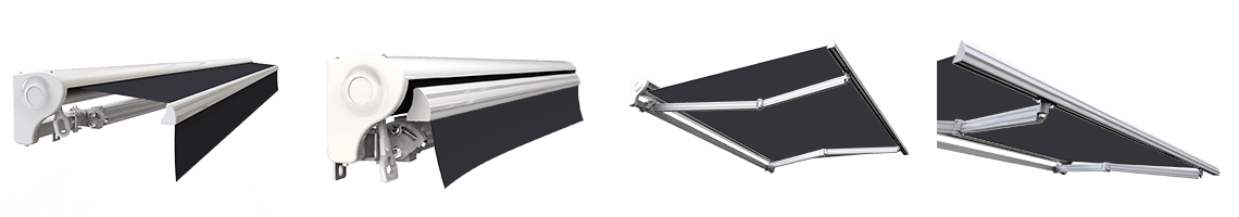 store banne semi coffre motorisé sunny inch gris anthracite
