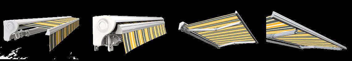 store banne semi coffre motorisé sunny inch gris jaune