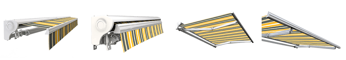 store banne semi coffre manuel sunny inch gris jaune
