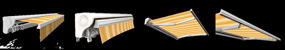 store banne semi coffre motorisé sunny inch jaune rayé