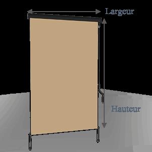 store vertical enrouleur ext rieur pour terrasse ou balcon anthracite m tallique dune. Black Bedroom Furniture Sets. Home Design Ideas