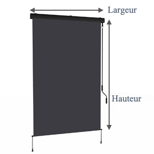 store vertical enrouleur ext rieur pour terrasse ou balcon anthracite m tallique gris. Black Bedroom Furniture Sets. Home Design Ideas