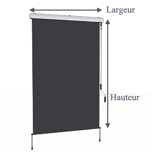store vertical enrouleur ext rieur pour terrasse ou balcon blanc m tallique gris. Black Bedroom Furniture Sets. Home Design Ideas